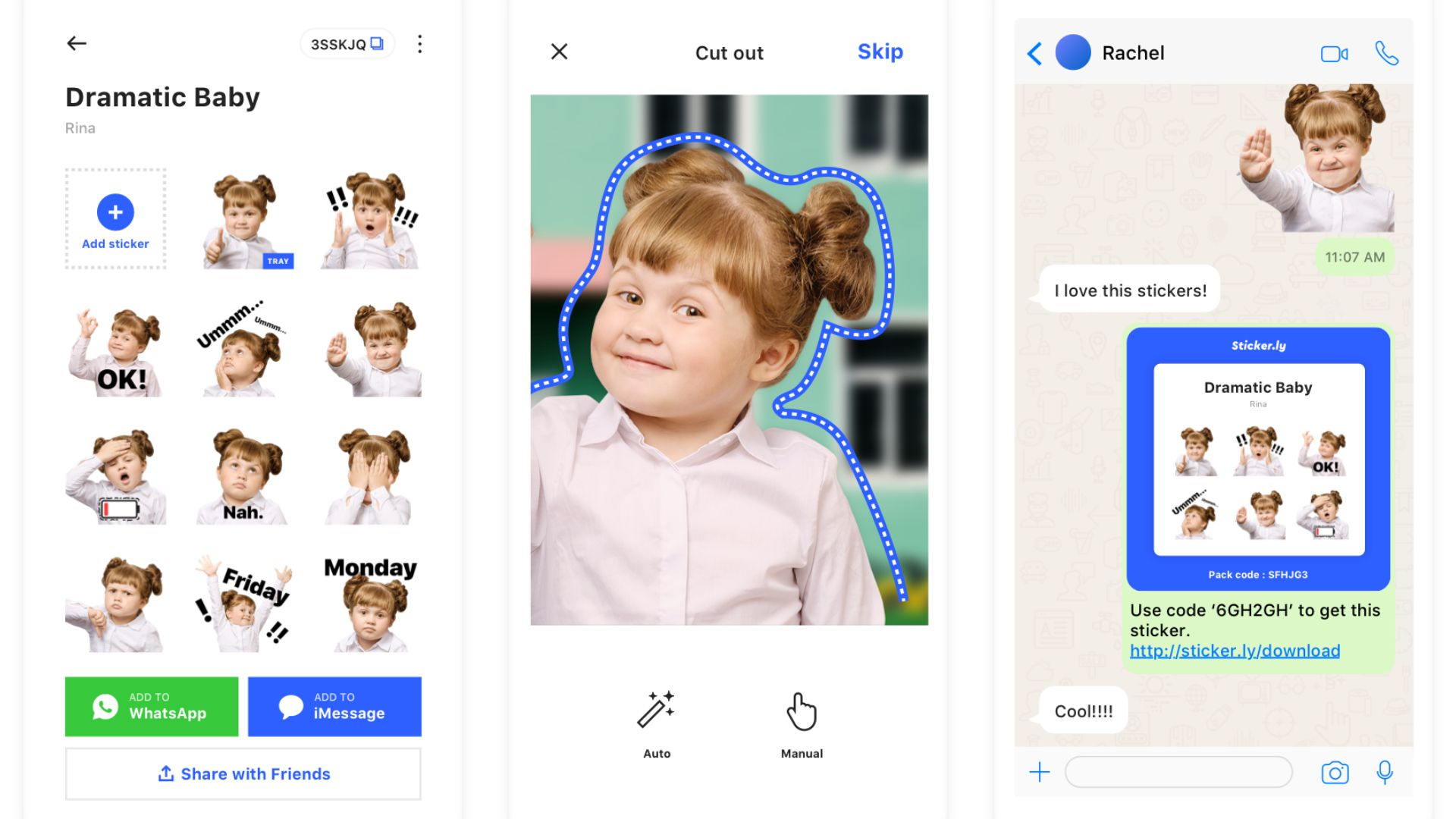 Stickerly es una de las apps para crear stickers personalizados.