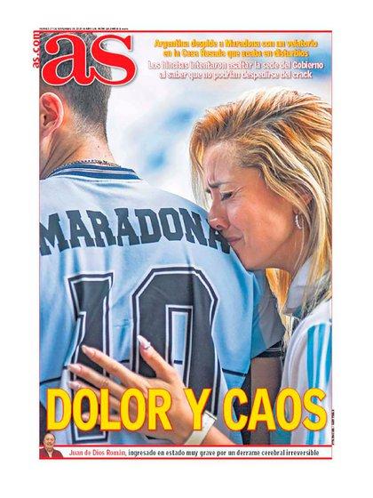 La portada del diario AS