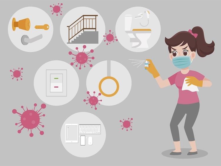Es importante la correcta desinfección de cada superficie con la que entramos en contacto (Shutterstock)