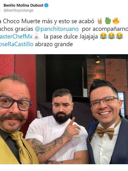 El chef Benito se mostró bastante critico con José Ramón Castillo