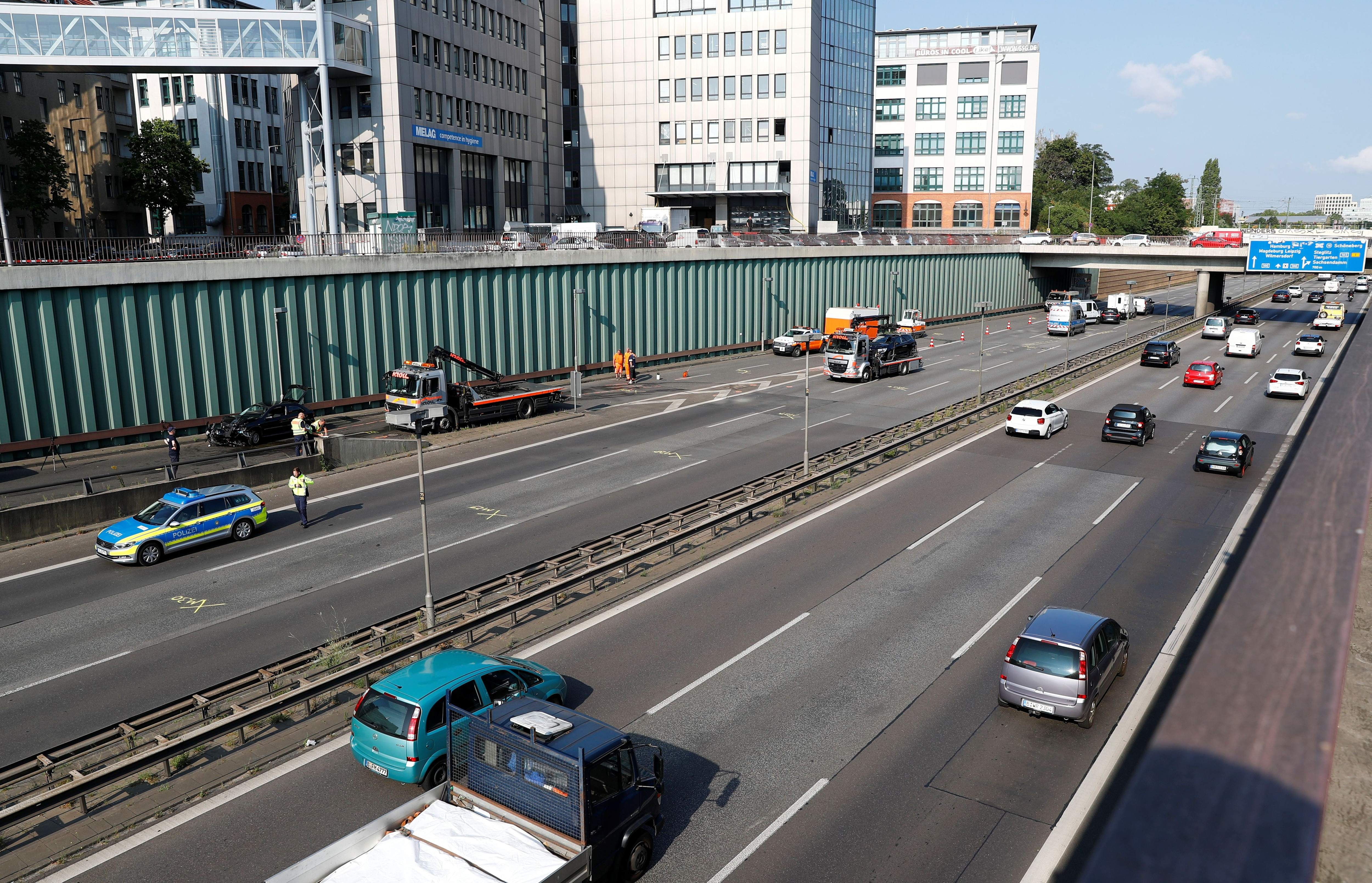 General view of the highway where the attack took place (Reuters)