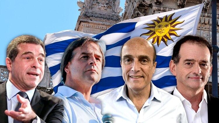 Ernesto Talvi, Luis Lacalle Pou, Daníel Martinez y Guido Manini Ríos son los principales candidatos a la Presidencia.