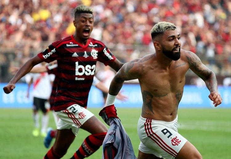 Con sus dos goles, Gabriel Barbosa se alzó como máximo artillero del torneo con 9 tantos