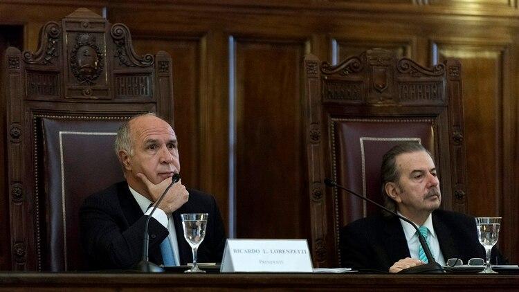 Ricardo Lorenzetti y Carlos Maqueda (Foto: Adrián Escandar)