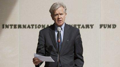El portavoz del Fondo Monetario Internacional, Gerry Rice (EFE/Michael Spilotro)