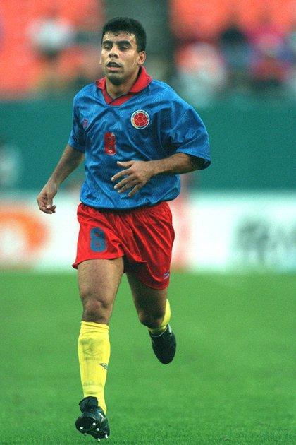 La imagen de Chicho con la camiseta de su selección en el 94 (Grosby)