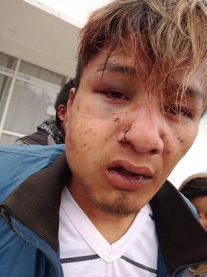 Uno de los jóvenes detenidos