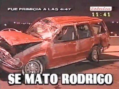 El 24 de junio de 2000 el país amaneció impactado por la muerte del cantante cuartetero (captura de Crónica TV)