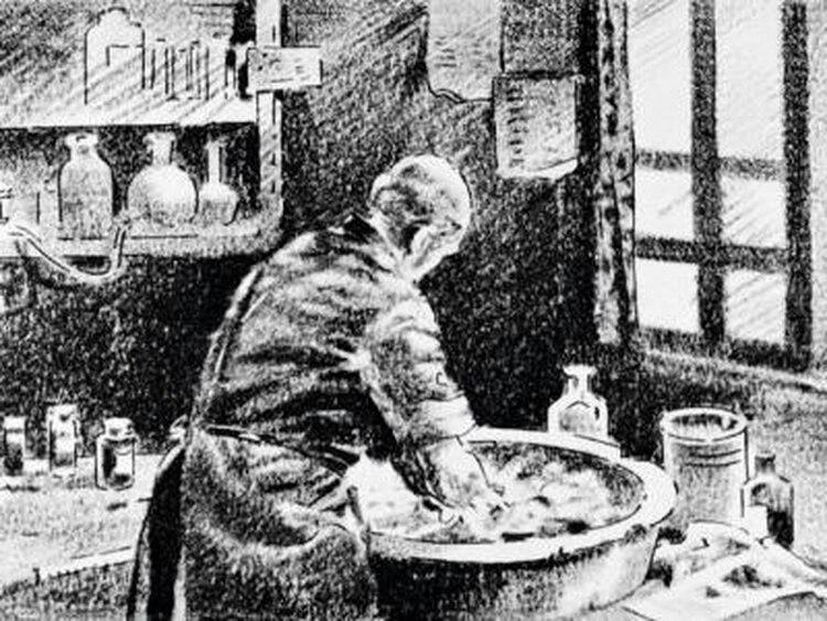 La higiene personal y médica no estaba arraigada en la sociedad del siglo XIX (wikipedia)