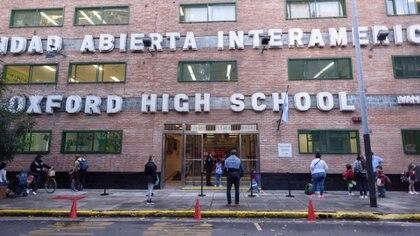 Oxford High School, en Belgrano, este miércoles (Foto: Adrián Escándar)