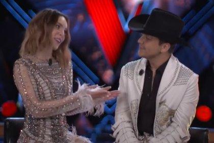 Cómo miraba Christian Nodal a Belinda al anunciar que cantarán juntos (IG: lavoztvazteca)