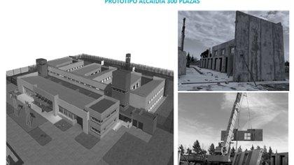 Una de las imágenes que refleja la dimensión de las alcaldías que estarían construidas sobre dos hectáreas