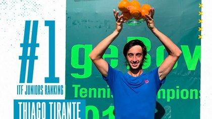 Así lo reconoció la Asociación Argentina de Tenis en redes sociales