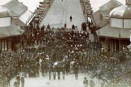 Llegada de los restos de Sarmiento a Buenos Aires.