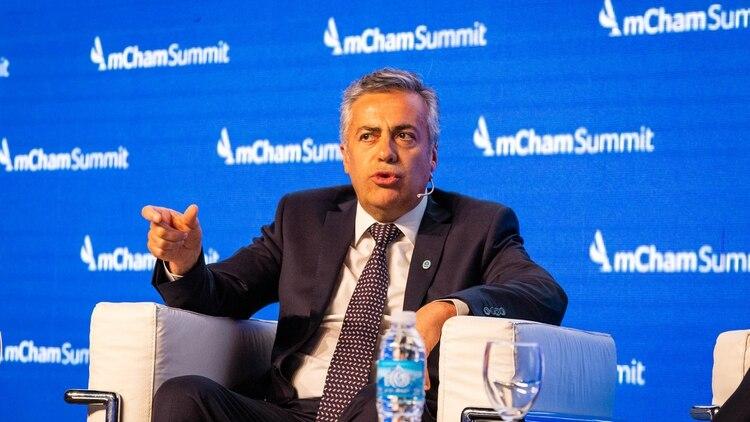 Alfredo Cornejo, titular de la UCR. Insiste con ampliar Cambiemos y unas PASO competitivas