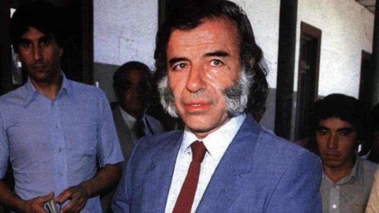 Carlos Menem, en sus tiempos como gobernador riojano, antes de viajar a Damasco para sus encuentros secretos con Bashar al Asad, dictador de Siria