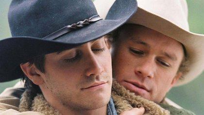 "Jacke Gyllenhaal y Heath Ledger en ""Secreto en la montaña"""