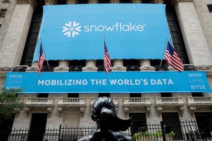 Snowflake, una compañia de análisis de datos, se lanzó en septiembre pasado, superó en un día a Twitter y esta semana Wall Street la valuó en USD 120.000 millones, por encima de la veterana IBM REUTERS/Brendan McDermid
