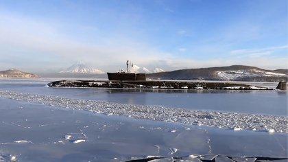 El submarino nuclear Vladimir Monomakh (AP)
