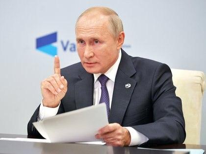 Vladimir Putin habló el jueves en una reunión del Club de Discusión deValdai. Sputnik/Alexei Druzhinin/Kremlin via REUTERS