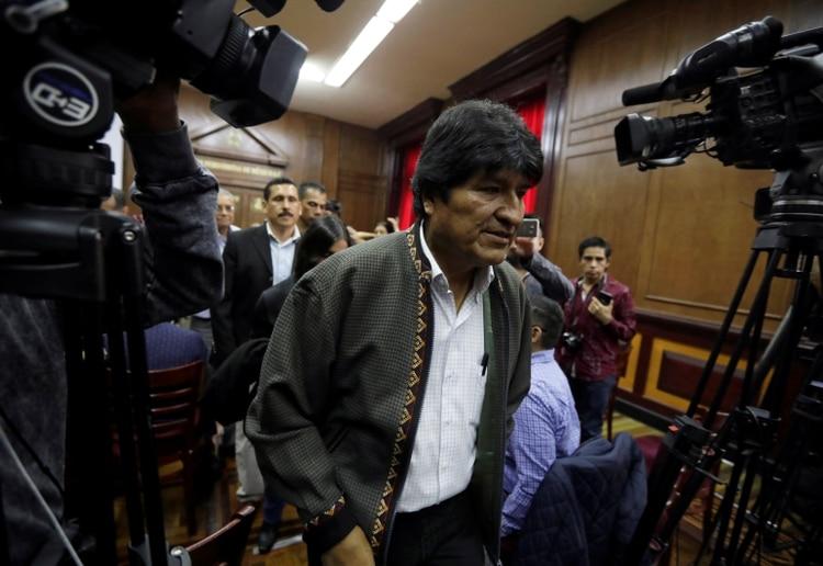 Evo Morales. REUTERS/Luis Cortes