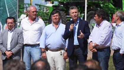 Mauricio Macri, ayer, en una exposición agropecuaria (Télam)