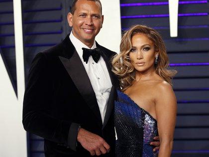 Alex Rodriguez y Jennifer Lopez (Reuters)