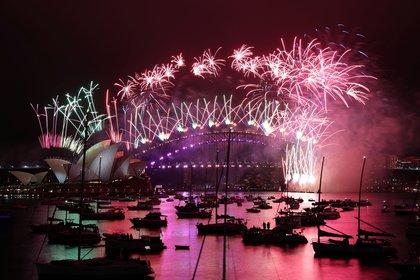 Australia recibió el 2021 con fuegos artificiales (Reuters/ Loren Elliott)