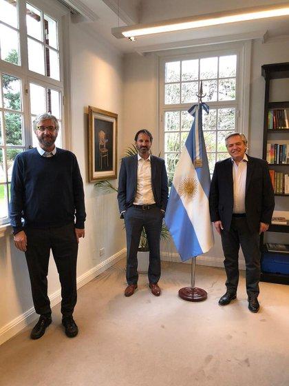 El doctor Polack con el presidente Alberto Fernández en Olivos (Infobae)