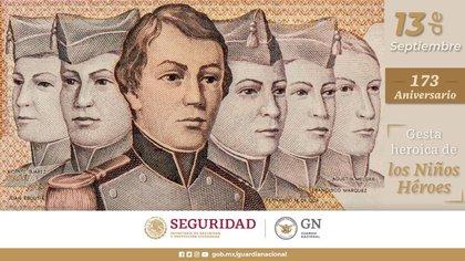 Se conmemoran 173 años de que Cadetes del Colegio Militar defendieron el Castillo de Chapultepec de las tropas estadounidense (Foto: Twitter@GN_México_)
