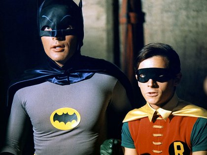 Adam West y Burt Ward en el Batman de los '60s