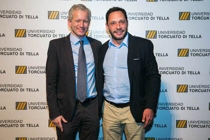 El rector Schargrodsky y el legislador de la Ciudad de Buenos Aires, Maximiliano Ferraro