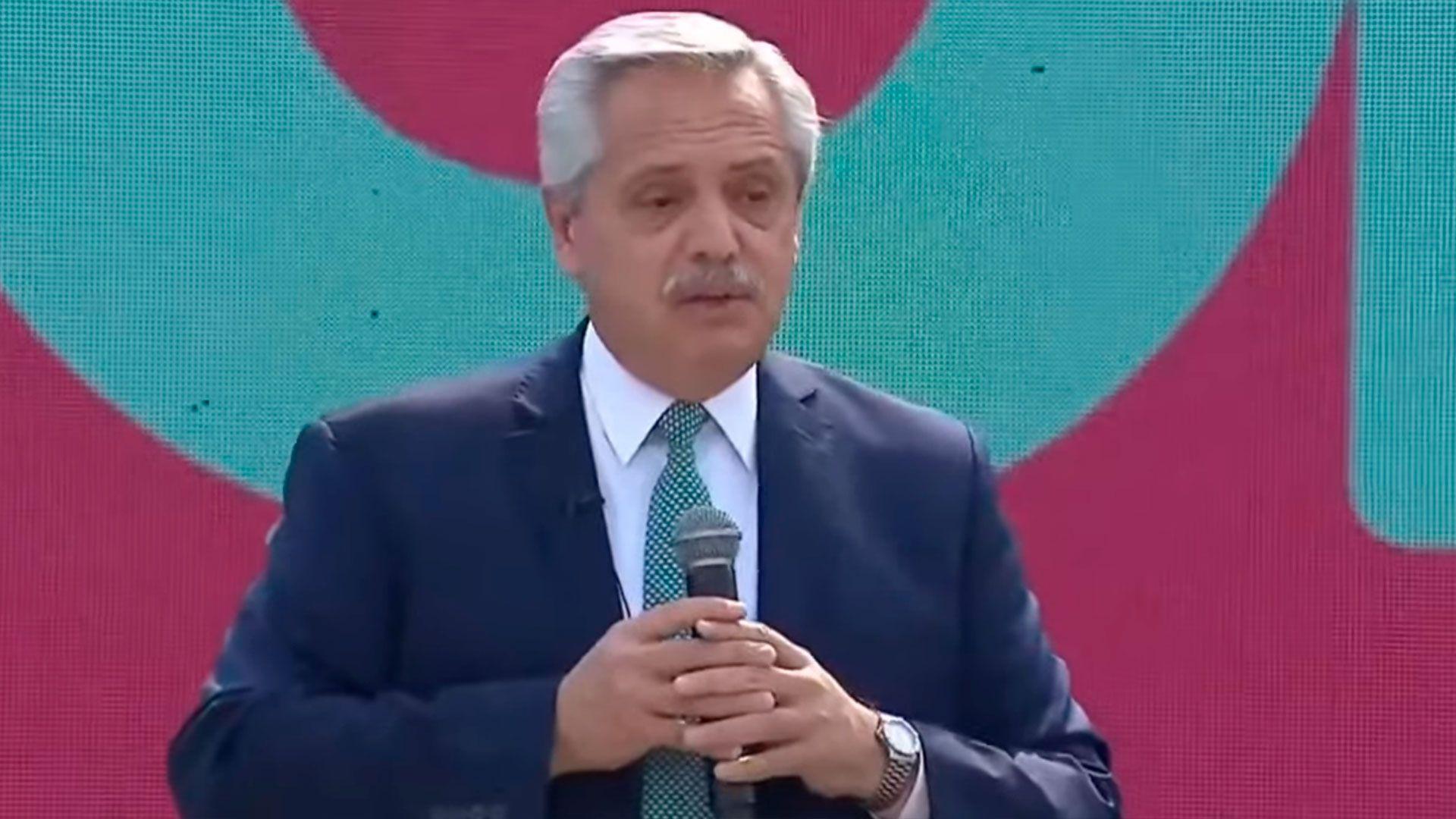 Alberto Fernández encabezó un acto del Frente de Todos en Tecnópolis