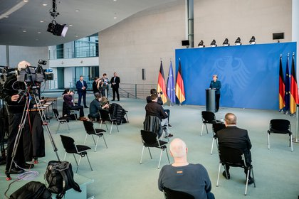Angela Merkel (Michel Kappeler/Pool vía Reuters/ File Photo)