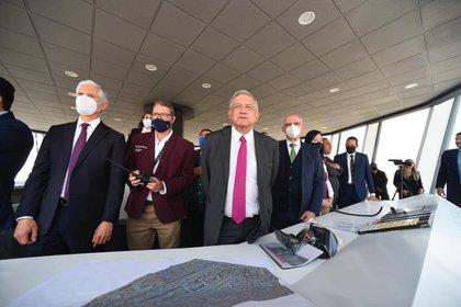 López Obrador realizó un vuelo hasta la base aérea (Foto: Presidencia de México)