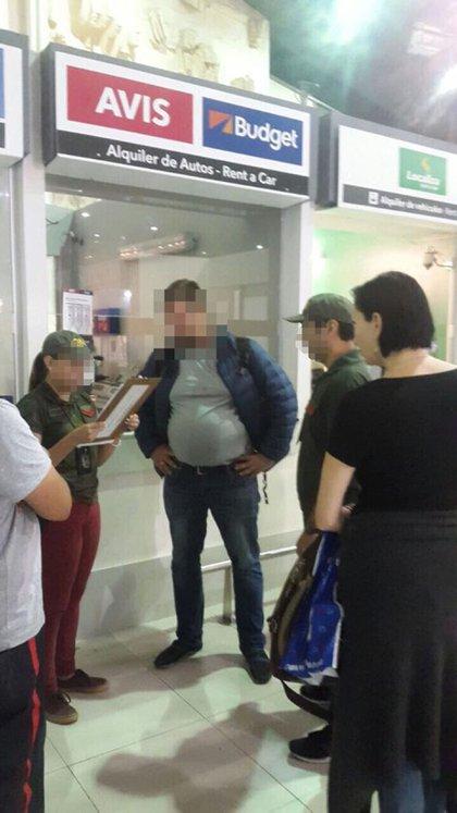 Blizniouk al ser detenido por Gendarmería.