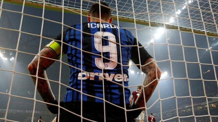 Mauro Icardi dejó de ser el capitán del Inter (REUTERS)