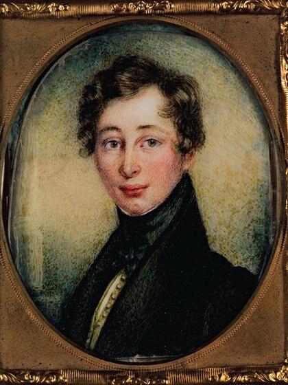 La imagen más joven que se conoce de Dickens, en un retrato de cuando tenía 18 años