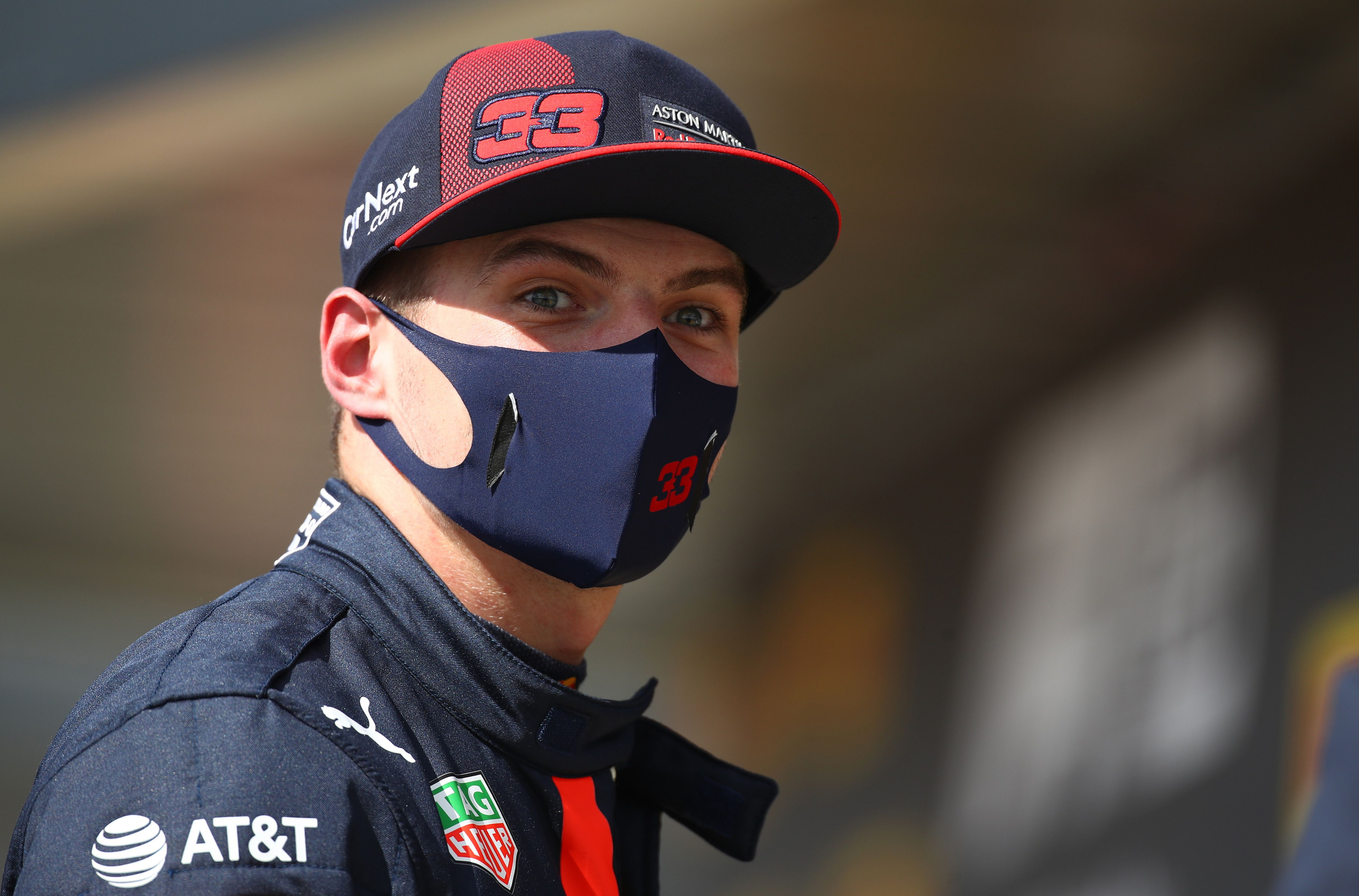 Formula One F1 - British Grand Prix - Silverstone Circuit, Silverstone, Britain - August 2, 2020 Red Bull'sMaxVerstappen after finishing in second place Pool via REUTERS/Bryn Lennon