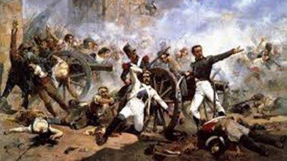 """""""Dos de Mayo"""", óleo de Joaquín Sorolla y Bastida. Representa el levantamiento español contra la invasión napoleónica (1808)"""