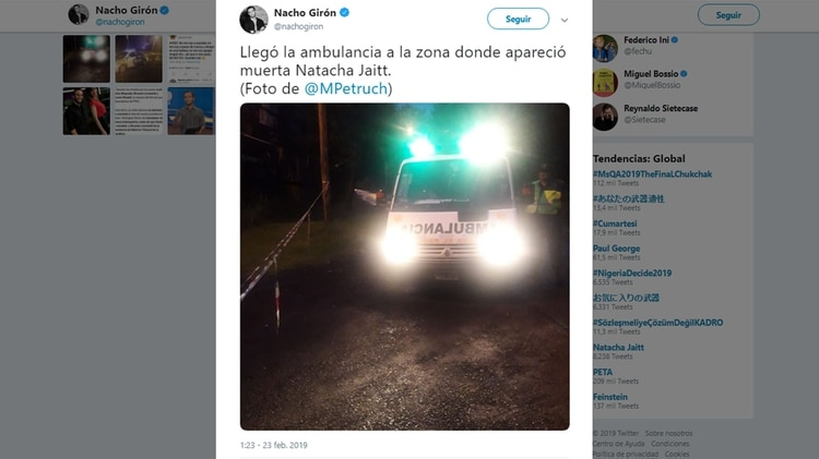 El periodista Nacho Girón dio la primicia en Twitter (@nachogiron)