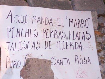 Presuntos sicarios del Cártel de Santa Rosa de Lima, levantaron, descuartizaron y abandonaron a varios hombres quienes fueron encontrados en el municipio de Salamanca (Foto: Twitter/fernand17704066)