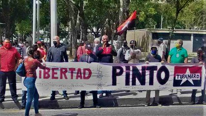 Tupamaros demands Pinto's freedom, from whom TSJ removes the party card