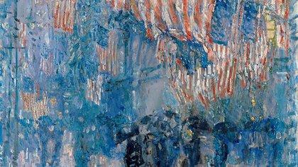 """La belleza del día: """"La avenida bajo la lluvia"""", de Childe Hassam"""