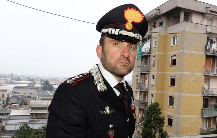 Paolo Storoni, jefe de carabinieri en Bergamo Italia (Gentileza: Corriere della Sera)