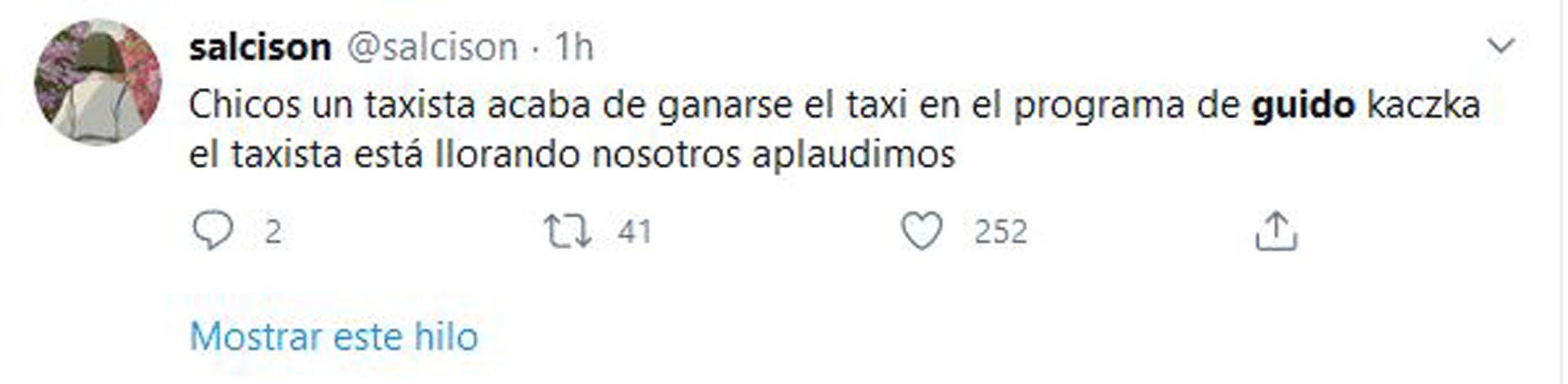 Taxi (Foto: Twitter)