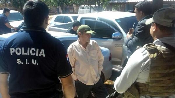 Armando Salinas, al momento de ser detenido