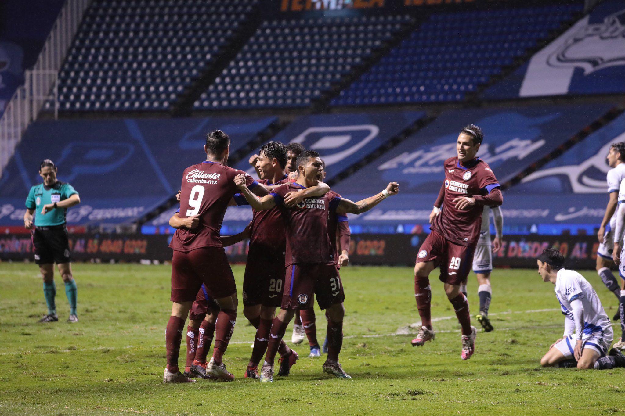 La Máquina empató con el Puebla, gracias a un gol de último minuto de Orbelín Pineda (Foto: Twitter/ @CruzAzulCD)