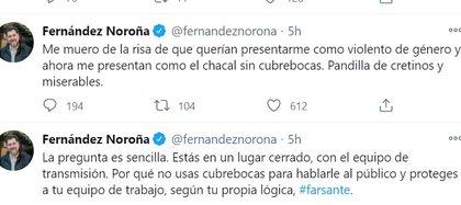 También se lanzó contra el periodista Ciro Gómez Leyva