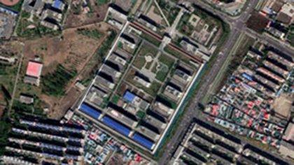 Centros de detención en Xinjiang (Google Earth)